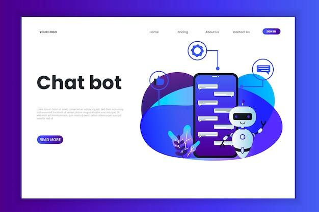 Modello di sito web con tecnologia chatbot