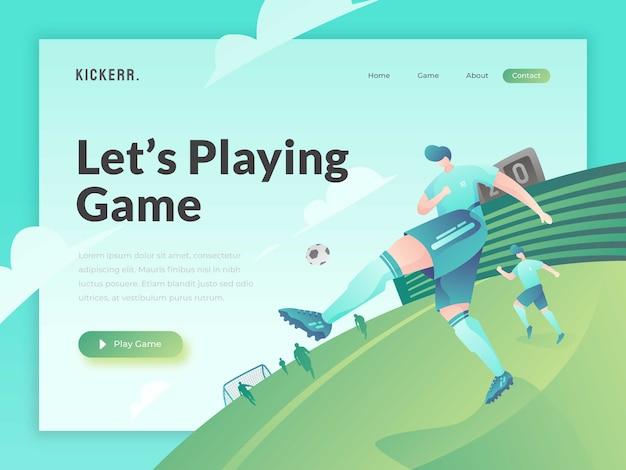 Modello di sito web del gioco