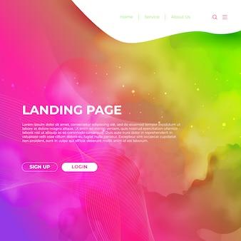 Modello di sito web della pagina di destinazione