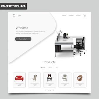 Modello di sito web dello shopping online di mobili in stile moderno