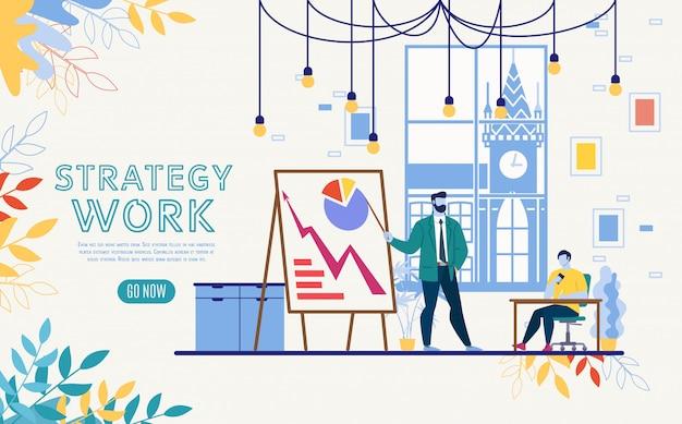 Modello di sito web di analisi dei dati aziendali.