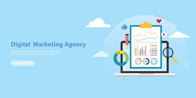 Modello di sito web di banner agenzia di marketing digitale