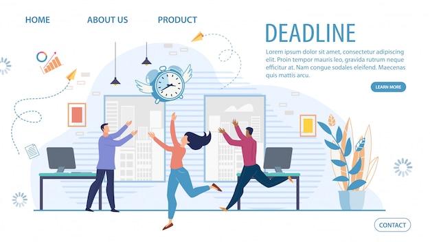 Modello di sito web di gestione del tempo di affari