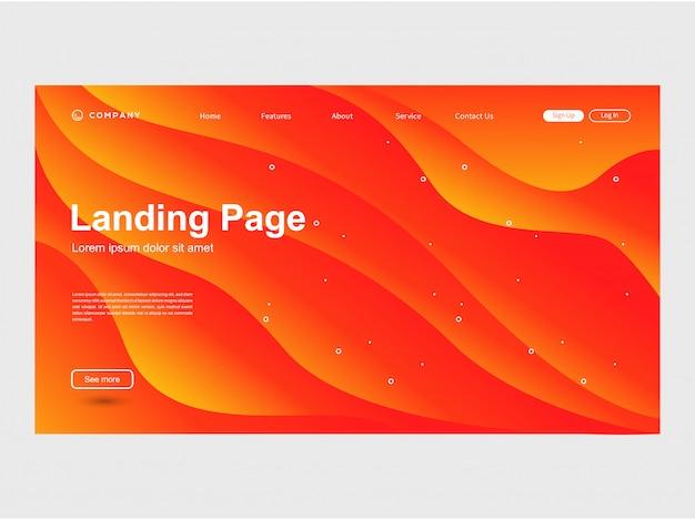 Modello di sito web di gradazione di colore moderno alla moda