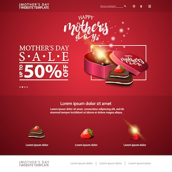 Modello di sito web di sconto festa della mamma