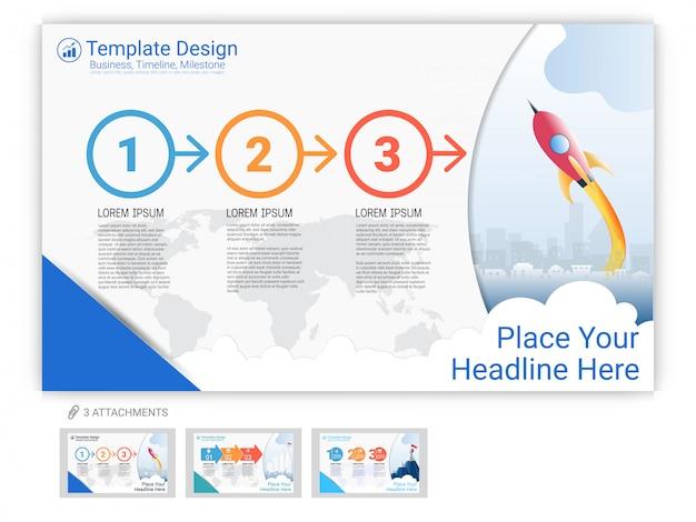 Modello di sito web infografica o landing page per la progettazione di pagine web