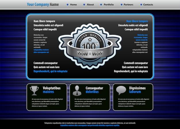Modello di sito web