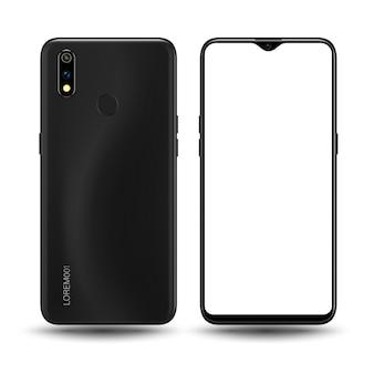 Modello di smartphone realistico