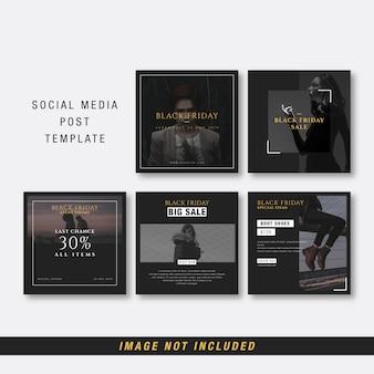 Modello di social media venerdì nero