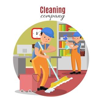 Modello di società di pulizie