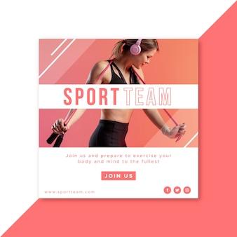 Modello di sport instagram post