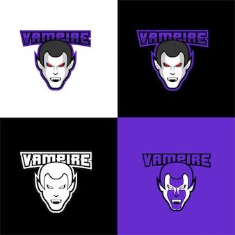 Modello di sport logo testa di vampiro