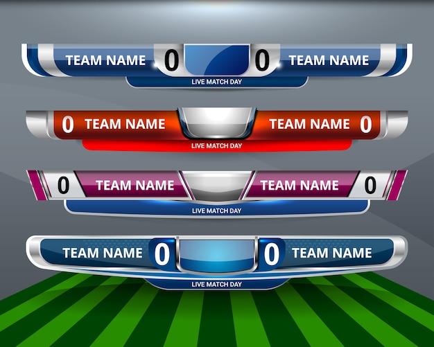 Modello di sport tabellone per il calcio e il calcio