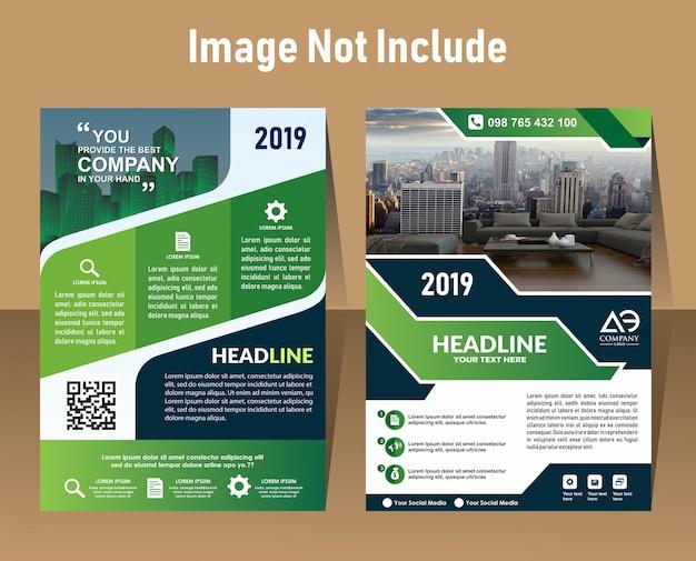 Modello di stampa con copertina in formato a4