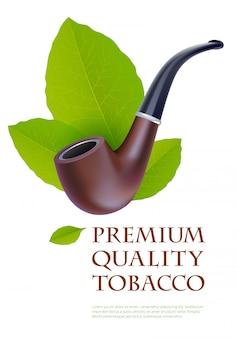 Modello di stampa pubblicitaria per prodotti premium tabacco.