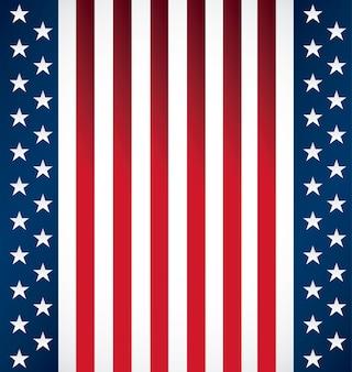 Modello di stato unito della bandiera americana s
