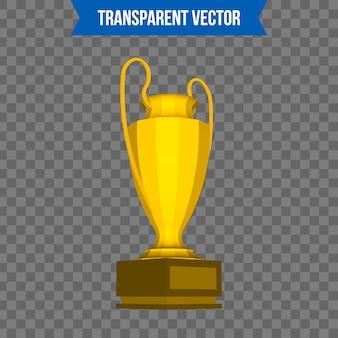 Modello di stile 3d isometrico tazza trofeo.