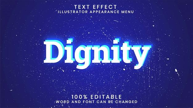 Modello di stile di effetto di testo incandescente modificabile di dignità