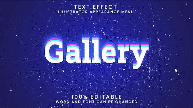 Modello di stile effetto testo modificabile modificabile galleria