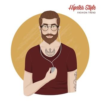 Modello di stile hipster