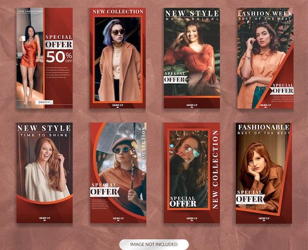 Modello di storia di moda social media classico