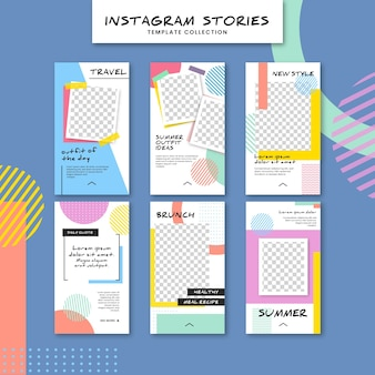 Modello di storie colorate instagram