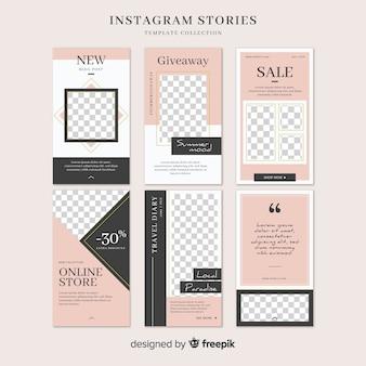 Modello di storie di instagram con cornice vuota