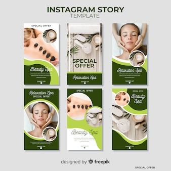 Modello di storie di instagram spa