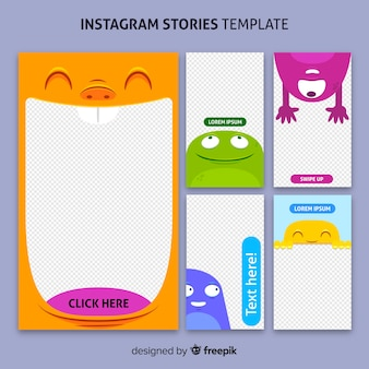 Modello di storie di instagram