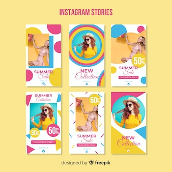 Modello di storie di vendita estiva instagram