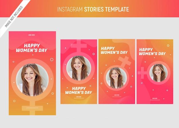 Modello di storie instagram della giornata internazionale della donna