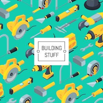 Modello di strumenti di costruzione