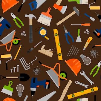 Modello di strumenti e attrezzature da costruzione