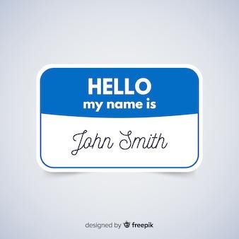 Modello di tag nome moderno