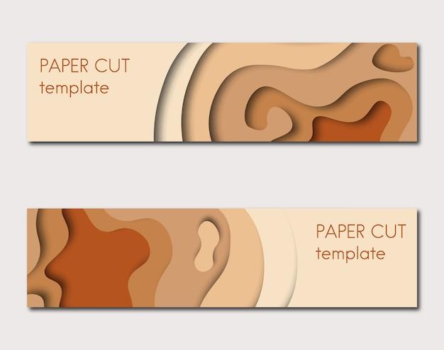 Modello di taglio della carta