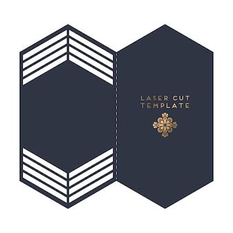 Modello di taglio laser carta vettoriale matrimonio