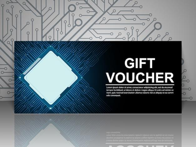 Modello di tecnologia del buono regalo.
