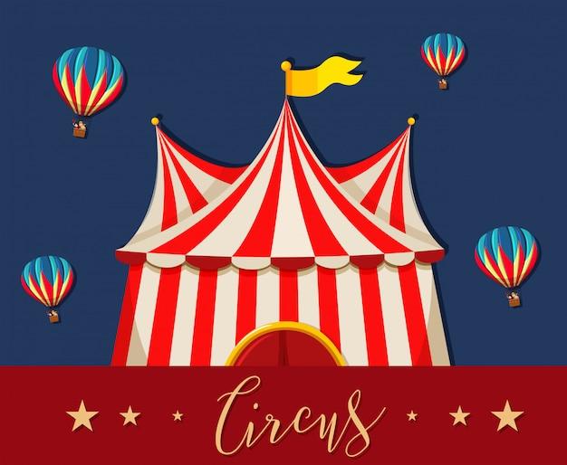 Modello di tema del parco di divertimenti del circo