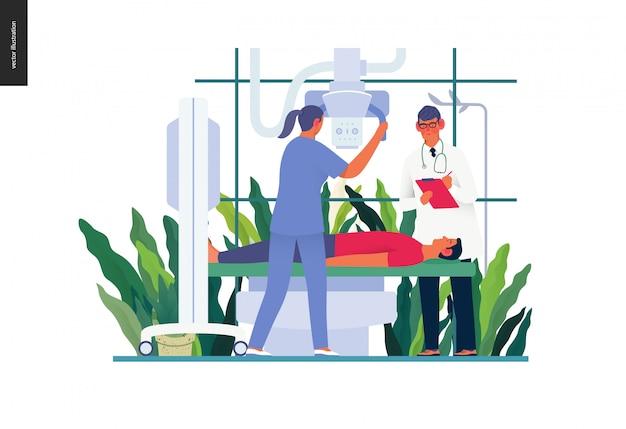 Modello di test medici - test a raggi x