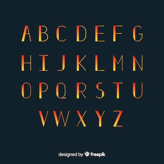Modello di tipografia gradiente