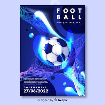 Modello di torneo di calcio poster