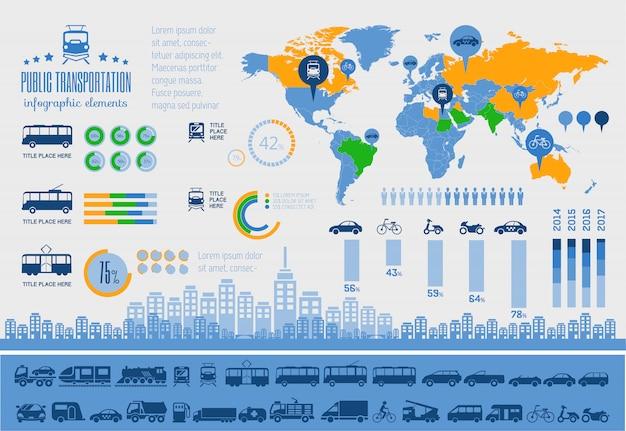 Modello di trasporto infografica.