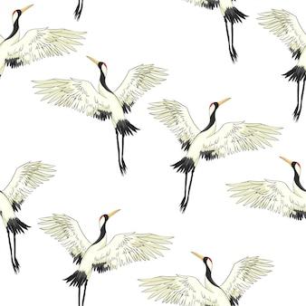 Modello di uccelli gru