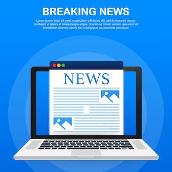 Modello di ultime notizie