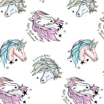 Modello di unicorno disegnato a mano