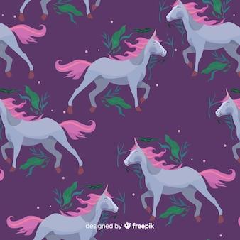 Modello di unicorno piatto