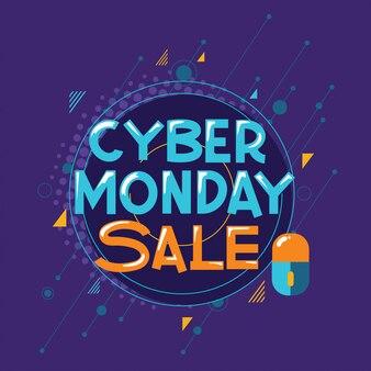 Modello di vendita del cyber monday