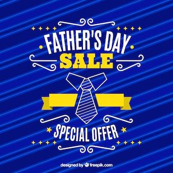 Modello di vendita del giorno del padre con il modello blu