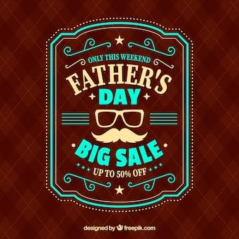 Modello di vendita del giorno del padre con il modello rosso