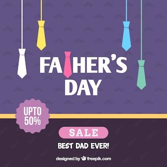 Modello di vendita di festa del papà con cravatte colorate
